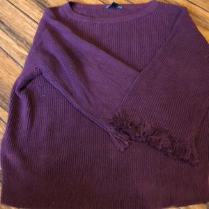 JCrew Sweater Medium Burgundy